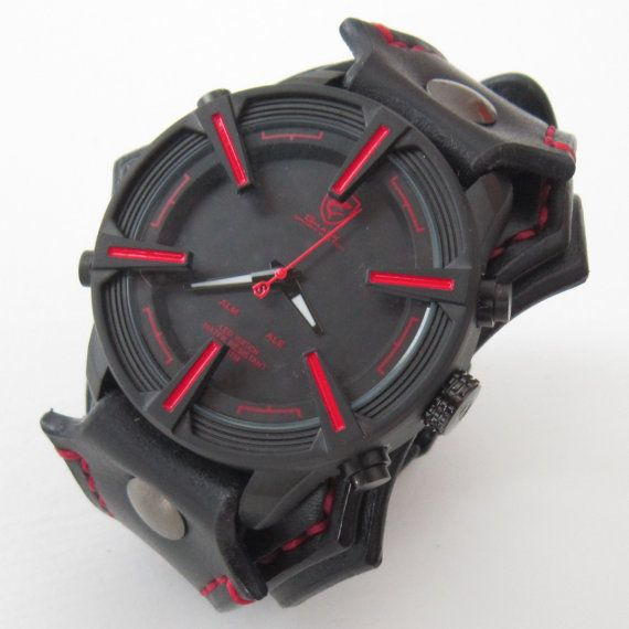 Mens watch unique watch for men shark leather watch for Nice watch for boyfriend