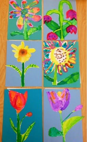1st Grade watercolors inspired by O'Keeffe-Art with Mr. Giannetto Blog