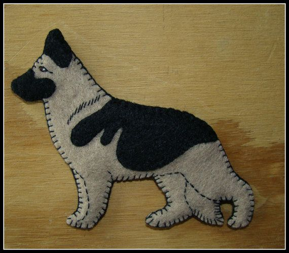 German shepherd ornament. German shepherd magnet. GSD by justsue