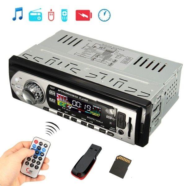 Car Auto Stereo Audio In-Dash Aux Input Receiver SD USB MP3 FM Radio Player Sale - Banggood.com