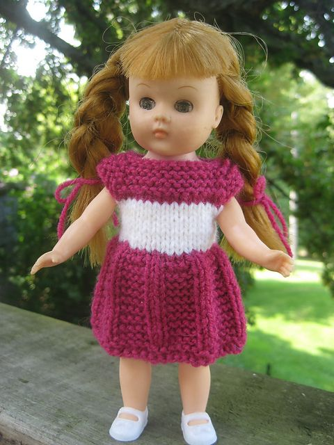 Ravelry: AMG Mini Doll Dress (for 6.5 inch doll) Free Pattern pattern by Jacqueline Gibb