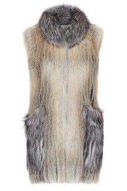 Меховой жилет из золотой лисицы