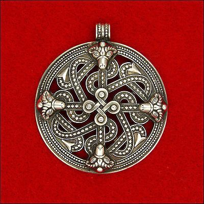 Viking Style Silver Pendant  Koru/Kalevala - FINLAND - 1978