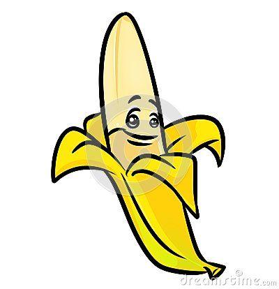 Cheerful banana cartoon illustration    image character