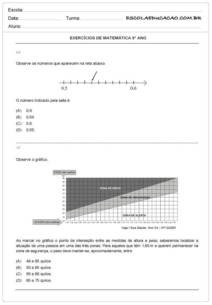 Pin Em Exercicio Matematica