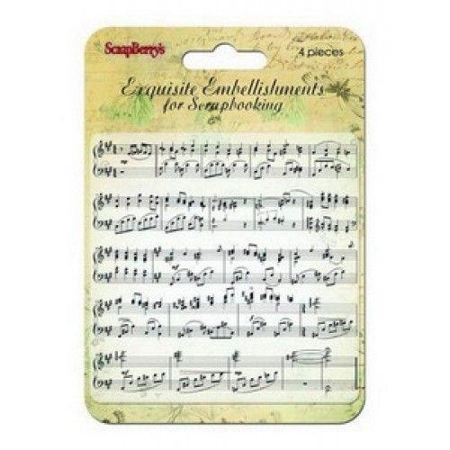 Stampila Note Muzicale 15 ron Chic & Art shop