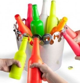 Bottle Opener Ice Bucket