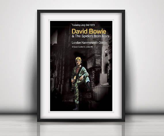 David Bowie 1973 The Last Ziggy Stardust Concert Poster Print