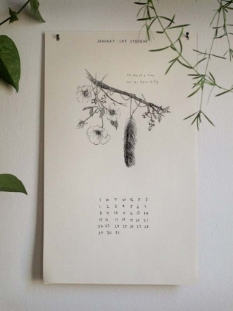 // wild unknown calendar.