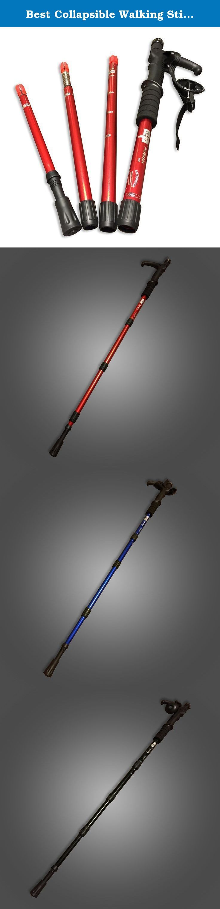 Best Collapsible Walking Sticks for Men, Women , Kids and for Protection with Anti Shock and LED Flashligh. Walking Stick Collapsible and Collapsible Hiking Stick for All Outdoor Activities. Adjustable Light Weight Hiking and Backcountry Ski Poles and Cross Country Ski Poles. Walking Pole Can Be Used for Exercise and Self Defense. Fitmistry Adjustable Hiking and Walking Poles will bring out the best trails for any situations. Whether you are hiking in the mountains or walking around your...