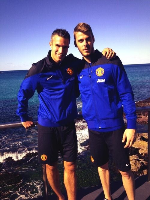 Robin van Persie and David De Gea