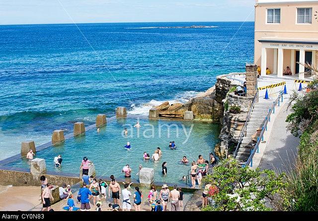 Salt water surf pool at Coogee Beach in Sydney, Australia