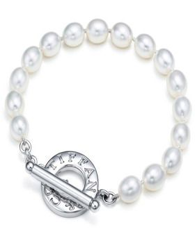 Tiffany & Co Outlet Freshwater Pearls Toggle Bracelet