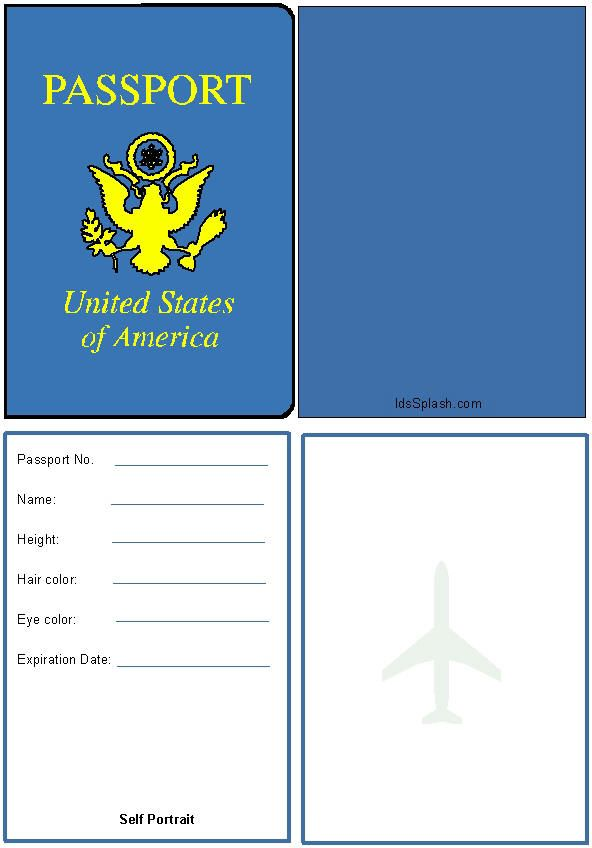 passport picture template - the gallery for pretend passport template for kids