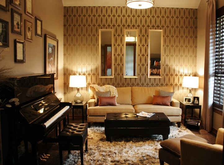 7 best piano room images on pinterest formal living for Grand piano in living room
