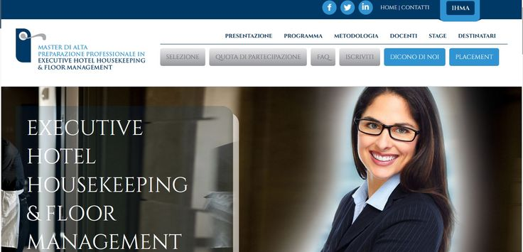 sito web per IHMA - Master Executive Hotel Housekeeping & Floor Management