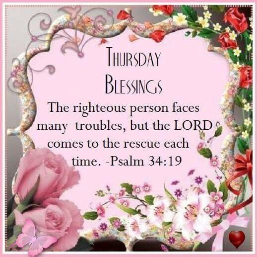 Image result for Thursday Blessings with Bible Verses