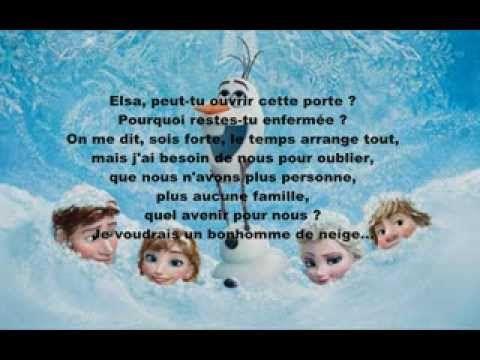 Je voudrais un bonhomme de neige hd la reine des neiges lyrics youtube it was all - Telecharger chanson reine des neiges ...
