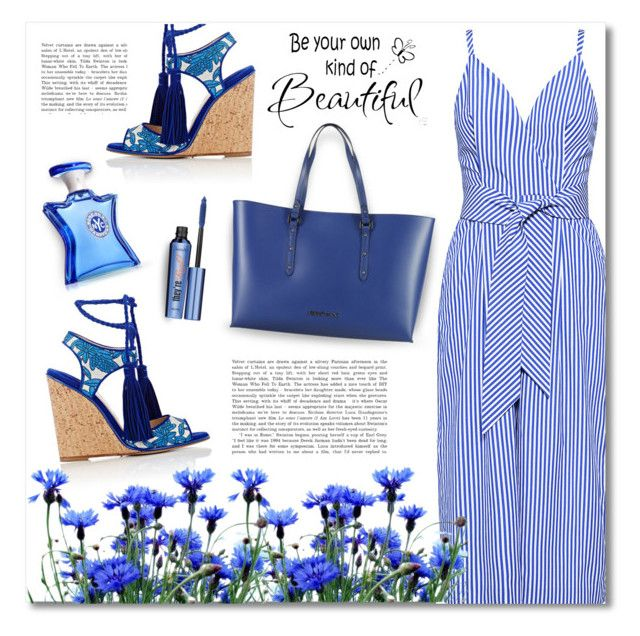 """Pinstripe Jumpsuit"" by debraelizabeth ❤ liked on Polyvore featuring Finders Keepers, Paul Andrew, Armani Jeans, Bond No. 9, Benefit, WALL, jumpsuit and pinstripe"