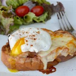 Chef John's Monte Cristo Benedict    It's an amazing three-in-one brunch dish, savory with a very slight sweet component.
