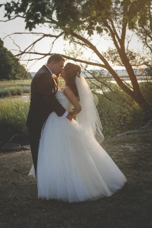 Gorgeous poofy tulle wedding dress.  Custom couture wedding dress by Rachel Alvia of Avail & Company