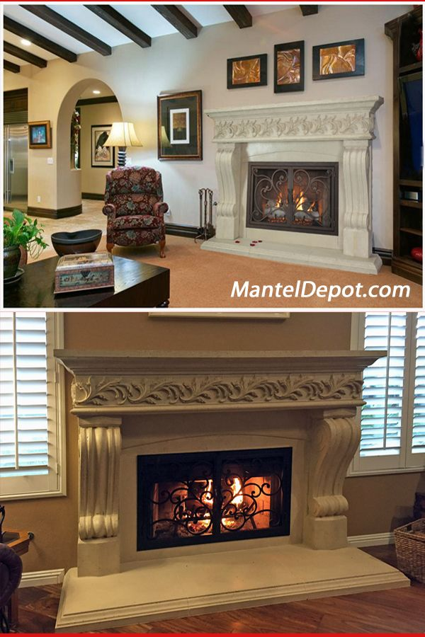 This Stunning Classic Fireplace Mantel And Fireplace Doors Will Make Your Friends Jealous This Cast Stone Mantel A Fireplace Doors Fireplace Classic Fireplace