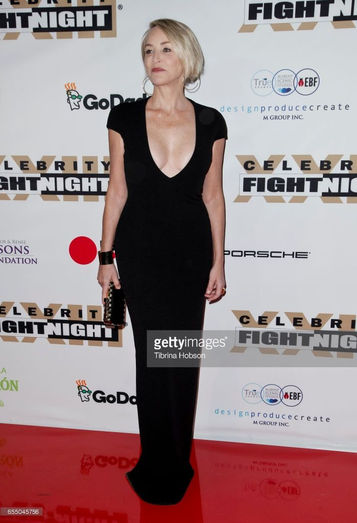 Sharon Stone attends Muhammad Ali's Celebrity Fight Night XXIII at the JW Marriott Phoenix Desert Ridge Resort & Spa on March 18, 2017 in Phoenix, Arizona.