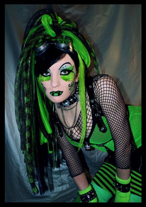 sexy cyber goth females