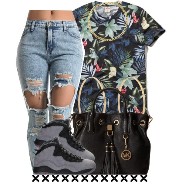 A fashion look from December 2014 featuring print shirts, boyfriend jeans and michael kors purses. Browse and shop related looks.