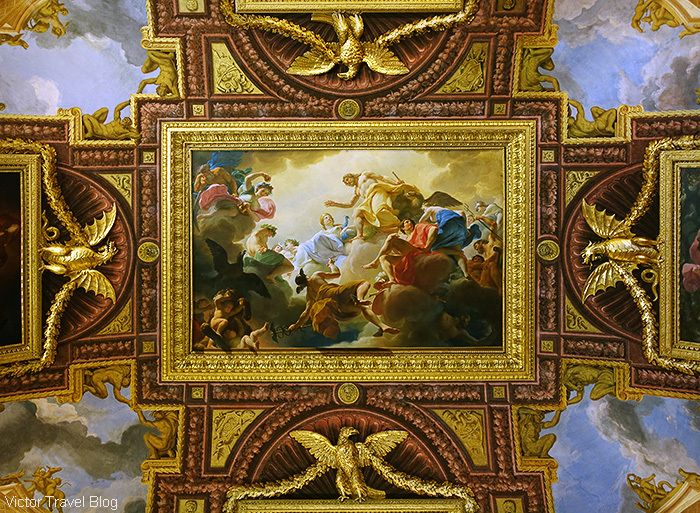 The ceilings of the Borghese Gallery, Rome, Italy.