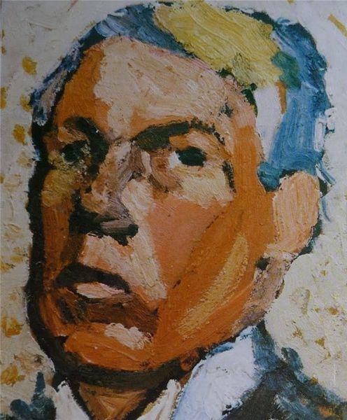 Joel Pettersson (1892-1937) Självporträtt (1937)