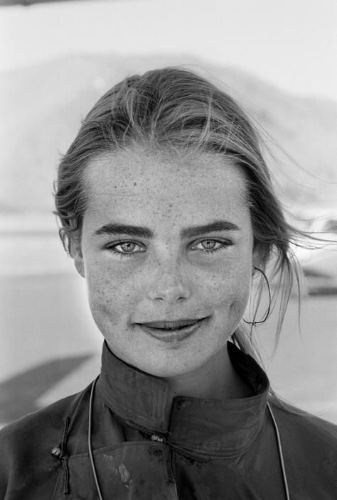 margaux hemingway, sun valley, california, 1974 • rene burri