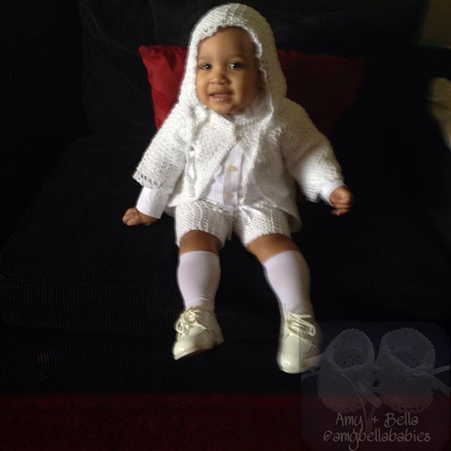 Christening Cardigan, Shorts and Bonnet Set / Set de Abrigo, Pantalón Corto y Bonnet Para Bautizo @amybellababies #amybellababies #crochet #crocheted #crocheting #crocheter #crochetlove #crochetlover #crochetaddict #crochetaddicted #crochetaddiction #crochetart #crochetartist #crochetersofinstagram #handmade #handcrafted #handcraft #etsy #etsybaby #pinterest #babyetsy #baby #christening #twitter #facebook #instagram #etsyshop #etsyseller #etsysellersofinstagram #etsysale #etsylove...