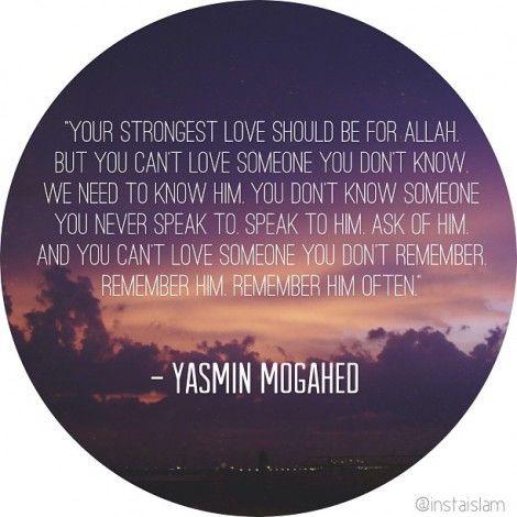 Yasmin Mogahed:Your Strongest Love