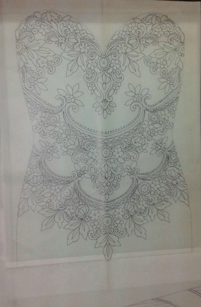 78 images about fine fabric lace custom embroidery on for Wedding dress beading patterns