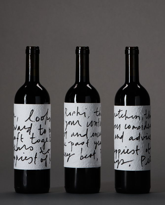"""Sometimes it is all about texture. The texture of the handmade paper and handwriting-look font say """"this wine is artisanal and authentic,"""""""