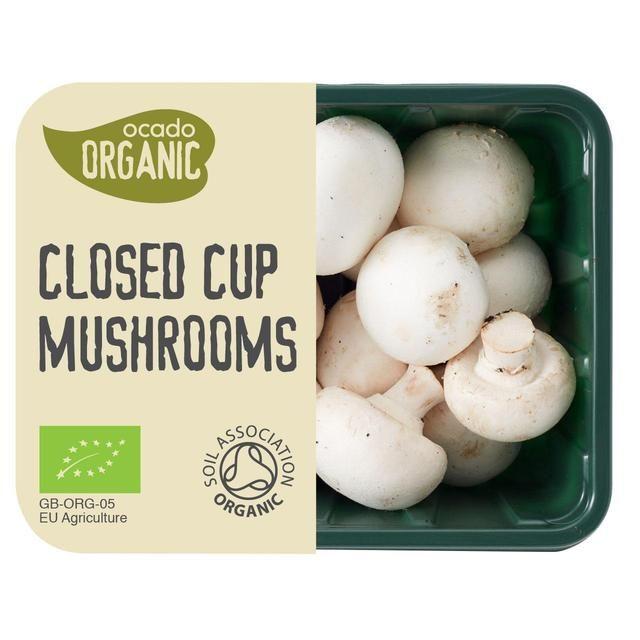 Ocado Organic White Closed Cup Mushrooms