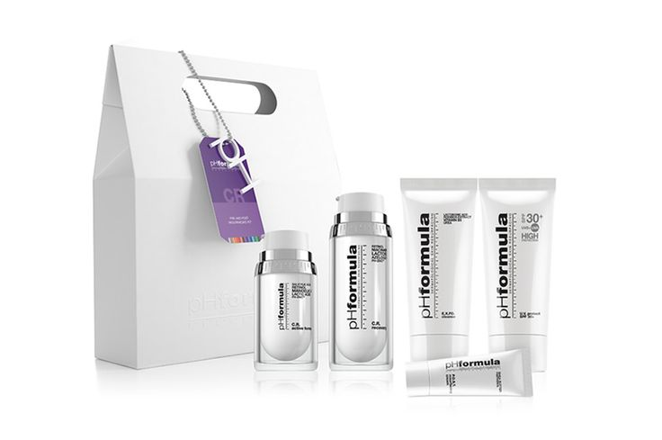C.R. homecare kit. Controlled pre and post resurfacing care during treatment prescriptions. Includes: #CRactive #CR recovery #EXFOcleanse #UVprotect30 #POSTresurfacingcream #pHformula
