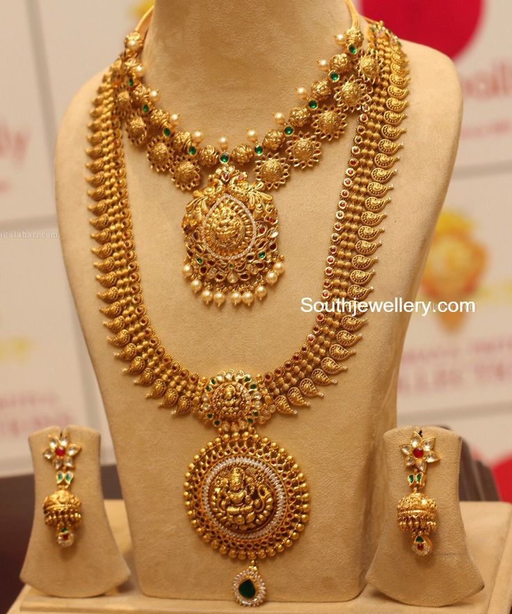 Antique Mango Haram and Nakhsi Balls Necklace