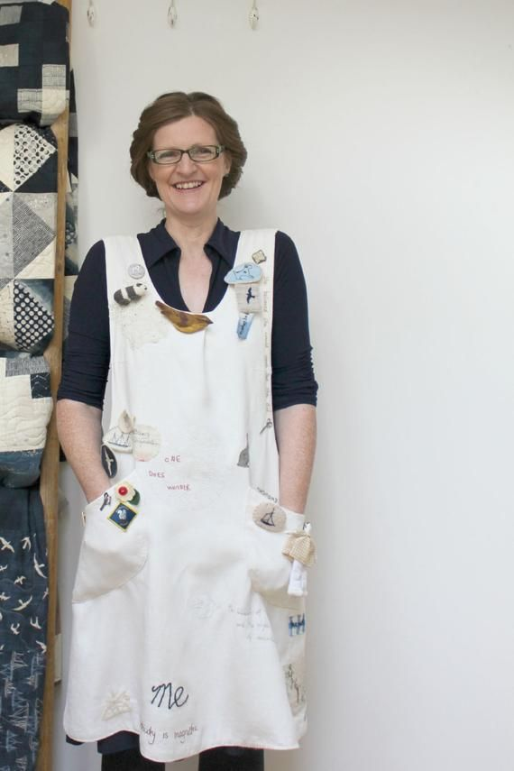 Artisan Apron Pattern - make and embellish your own crossover apron ...