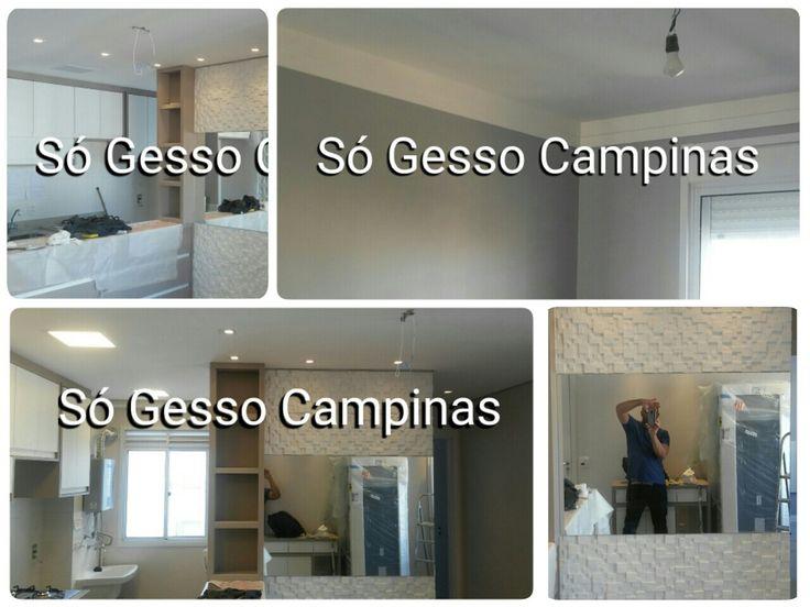 Apartamento decorado em gesso