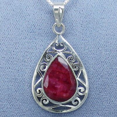 28 best ruby jewelry in sterling silver images on pinterest ruby genuine ruby jali filigree pendant necklace sterling silver free shipping aloadofball Choice Image