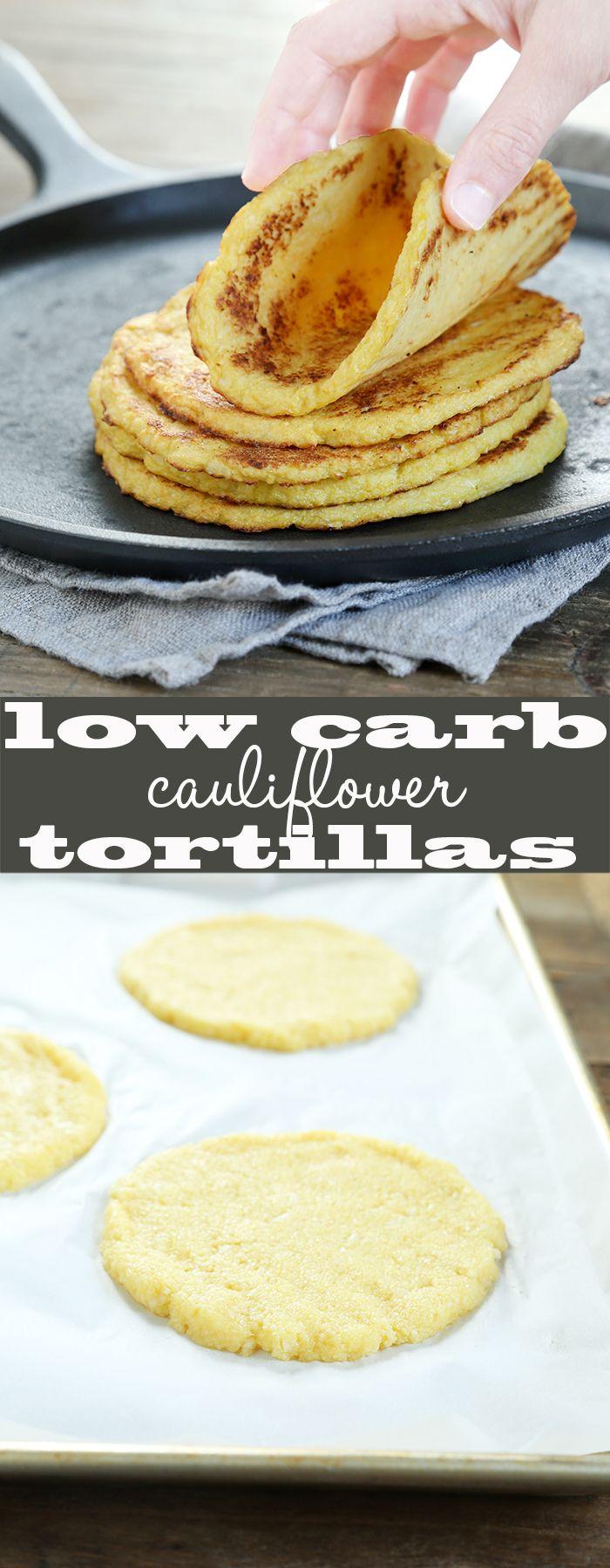 Low Carb Grain Free Cauliflower Tortillas