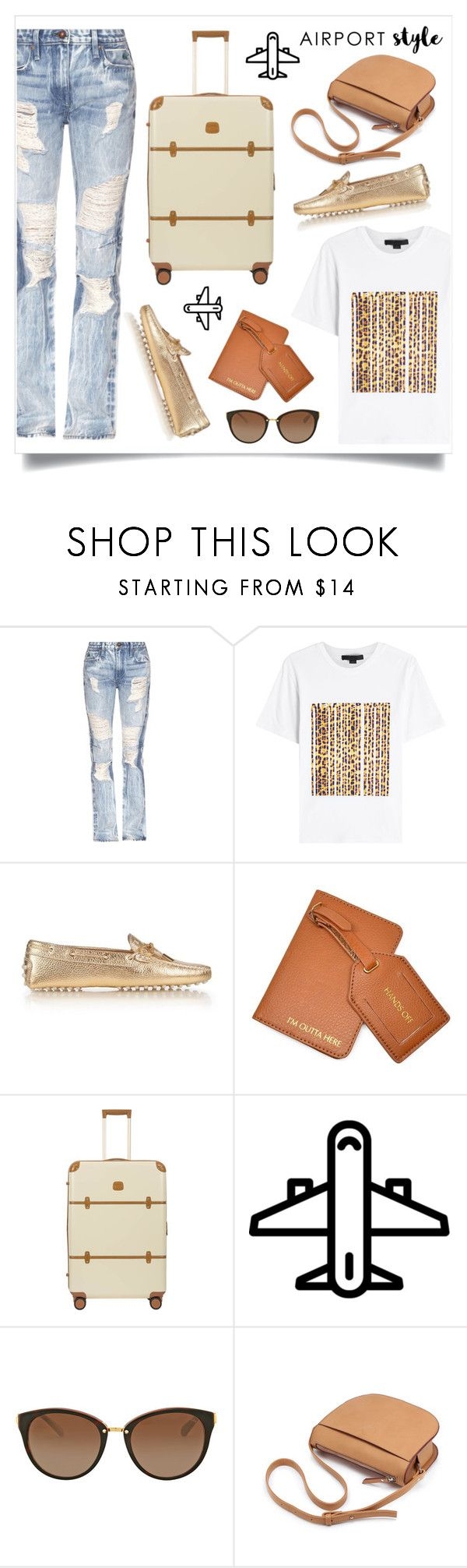 """Джет Сет: Стиль Аэропорта!"" by miss-image ❤ liked on Polyvore featuring Tortoise, Alexander Wang, Tod's, Botkier, Bric's and Michael Kors"