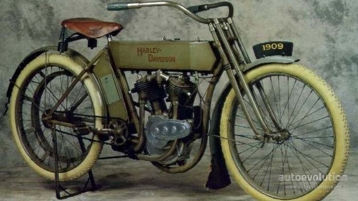 First Harley Davidson: 1909 -1910 HARLEY DAVIDSON The First V-Twin The First V