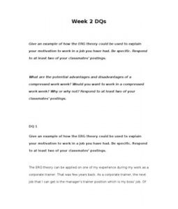 erg theory essay This article will help you to make comparison between maslow's and erg theory  of motivation of employees although the erg theory assumes that motivated.
