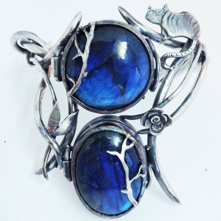 Labradorite Alice in Wonderland double locket bracelet by Jesa & Al at A Wolf and I   Copyright A Wolf and I