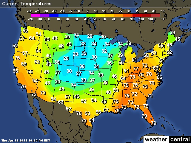This Is A Us Weather Current Temperatures Map Weather Maps Are One Of The Most