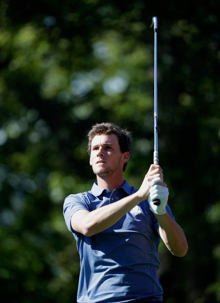 Thomas Pieters of Europe hits off the fourth tee during afternoon fourball matches of the 2016 Ryder Cup at Hazeltine National Golf Club on September 30, 2016 in Chaska, Minnesota. - 116 of 595