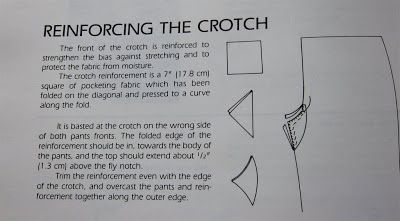 Reinforcing Crotch Saddle Work Pants Sewing Sewing